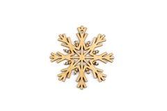 Χειμώνας, Χριστούγεννα, νέα ξύλινη διακόσμηση έτους - snowflake, αστέρι Στοκ εικόνες με δικαίωμα ελεύθερης χρήσης