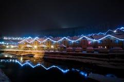 χειμώνας όψης θερέτρου νύχ&tau Στοκ εικόνες με δικαίωμα ελεύθερης χρήσης