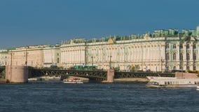 χειμώνας όψης της Ρωσίας Άγιος ποταμών της Πετρούπολης παλατιών neva φιλμ μικρού μήκους