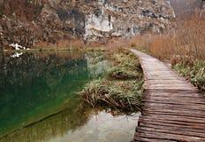 χειμώνας όψης plitvicka jezera Στοκ Φωτογραφίες