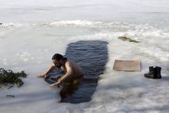 χειμώνας 2 κολυμβητών στοκ εικόνα με δικαίωμα ελεύθερης χρήσης