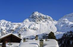 Χειμώνας Cuneaz (κοιλάδα Ιταλία Aosta) Στοκ εικόνες με δικαίωμα ελεύθερης χρήσης