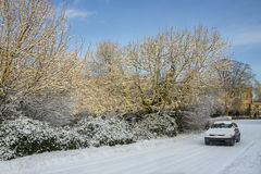 Χειμώνας Drive - βόρειες Γιορκσάιρ - Αγγλία στοκ φωτογραφίες