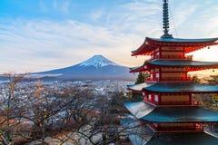 Χειμώνας Kawaguchiko, βουνό του Φούτζι, Ιαπωνία στοκ εικόνες