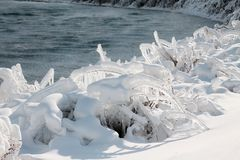 χειμώνας niagara πτώσεων Στοκ Εικόνα