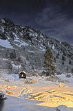 Χειμώνας nightscape Στοκ Εικόνες