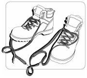 χειμώνας shoeslines ελεύθερη απεικόνιση δικαιώματος
