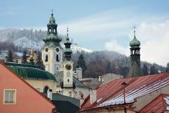 χειμώνας stiavnica banska Στοκ φωτογραφία με δικαίωμα ελεύθερης χρήσης
