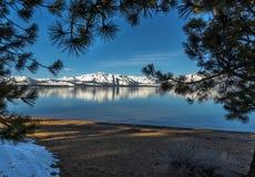 Χειμώνας Tahoe λιμνών Στοκ Εικόνα
