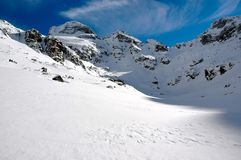 χειμώνας valey Στοκ Εικόνα