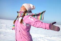 Χειμώνας wonan Στοκ εικόνα με δικαίωμα ελεύθερης χρήσης