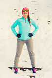 Χειμώνας workout το πρωί στοκ φωτογραφία
