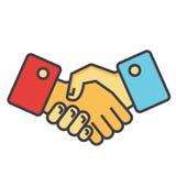 Χειραψία, έννοια συνεργασίας διανυσματική απεικόνιση