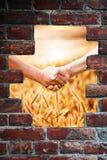 Χειραψία στη συγκομιδή Στοκ φωτογραφία με δικαίωμα ελεύθερης χρήσης