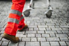 Χειριστής έκτακτης ανάγκης στη δράση Στοκ φωτογραφίες με δικαίωμα ελεύθερης χρήσης