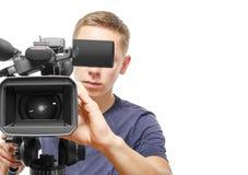 Χειριστής βιντεοκάμερων στοκ φωτογραφία