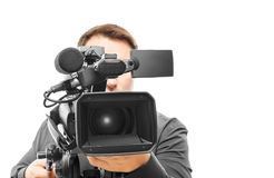 Χειριστής βιντεοκάμερων Στοκ εικόνα με δικαίωμα ελεύθερης χρήσης