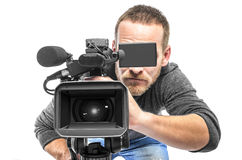 Χειριστής βιντεοκάμερων στοκ εικόνες με δικαίωμα ελεύθερης χρήσης