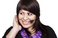 Χειριστής γυναικών με την κάσκα Στοκ Εικόνα