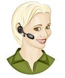 χειριστής κλήσης Στοκ εικόνες με δικαίωμα ελεύθερης χρήσης
