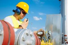 Χειριστής παραγωγής αερίου Στοκ εικόνες με δικαίωμα ελεύθερης χρήσης
