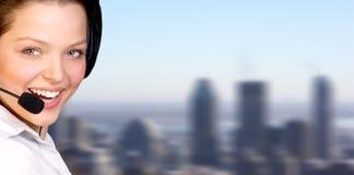 χειριστής τηλεφωνικών κέν&ta Στοκ φωτογραφία με δικαίωμα ελεύθερης χρήσης