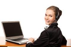 χειριστής τηλεφωνικών κέν&ta στοκ εικόνα με δικαίωμα ελεύθερης χρήσης