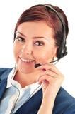 Χειριστής τηλεφωνικών κέντρων υποστήριξη πελατών Helpdesk στοκ φωτογραφίες