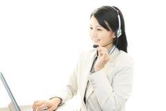 Χειριστής τηλεφωνικών κέντρων στοκ φωτογραφία με δικαίωμα ελεύθερης χρήσης