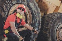 Χειριστής φορτηγών απορρίψεων ορυχείου στοκ εικόνες με δικαίωμα ελεύθερης χρήσης