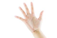 Χειρονομία αριθμός πέντε χεριών Στοκ φωτογραφία με δικαίωμα ελεύθερης χρήσης