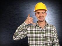 χειρονομία κλήσης handyman εγώ Στοκ φωτογραφίες με δικαίωμα ελεύθερης χρήσης