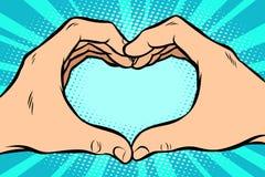 Χειρονομία με την καρδιά χεριών ελεύθερη απεικόνιση δικαιώματος