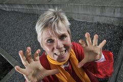χειρονομία που κάνει τη scary &g Στοκ Φωτογραφίες