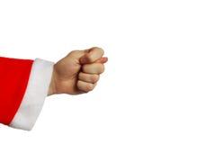 χειρονομία που κάνει το άσεμνο santa Στοκ Εικόνα