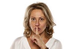 Χειρονομία σιωπής στοκ φωτογραφία με δικαίωμα ελεύθερης χρήσης