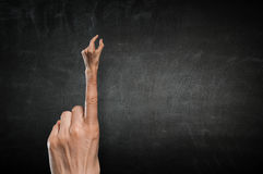 Χειρονομία συμπλεκτών δάχτυλων Μικτά μέσα Στοκ εικόνα με δικαίωμα ελεύθερης χρήσης