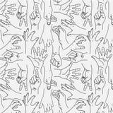 Χειρονομία χεριών - άνευ ραφής γραπτό σχέδιο ελεύθερη απεικόνιση δικαιώματος
