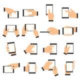 Χειρονομία χεριών στην οθόνη αφής Στοκ φωτογραφίες με δικαίωμα ελεύθερης χρήσης