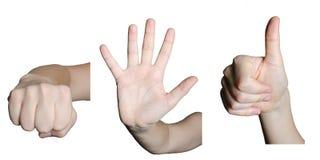 Χειρονομίες που γίνονται με το χέρι στοκ φωτογραφίες
