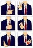 Χειρονομίες απεικόνιση αποθεμάτων