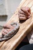 χειροπέδες ξύλινες Στοκ φωτογραφία με δικαίωμα ελεύθερης χρήσης