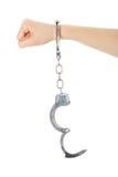 χειροπέδες χεριών Στοκ εικόνα με δικαίωμα ελεύθερης χρήσης