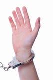 χειροπέδες στοκ εικόνα με δικαίωμα ελεύθερης χρήσης