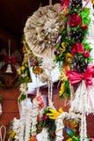 Χειροποίητα αναμνηστικά Χριστουγέννων στοκ εικόνα