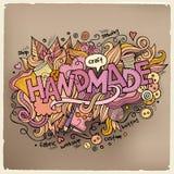 Χειροποίητα εγγραφή και doodles στοιχεία χεριών Στοκ Εικόνες