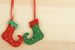 Χειροποίητες διακοσμήσεις Χριστουγέννων Στοκ φωτογραφία με δικαίωμα ελεύθερης χρήσης