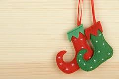 Χειροποίητες διακοσμήσεις Χριστουγέννων Στοκ εικόνα με δικαίωμα ελεύθερης χρήσης