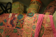 Χειροποίητες κουβέρτες backgound Στοκ Εικόνες