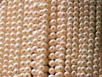 Χειροποίητες χάντρες μαργαριταριών Στοκ εικόνα με δικαίωμα ελεύθερης χρήσης